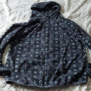 Ladies George 1X Zip Up Sweater.